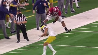 Najee Harris INSANE Hurdle vs Notre Dame | 2021 College Football
