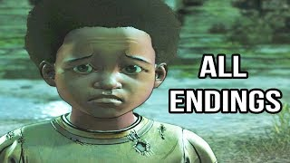 All Endings In The Walking Dead Game Season 4 Episode 1 - All Endings