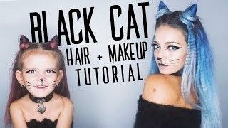 BLACK CAT   Hair and Makeup Tutorial!