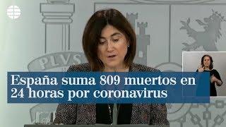 España suma 809 muertos con coronavirus en 24 horas