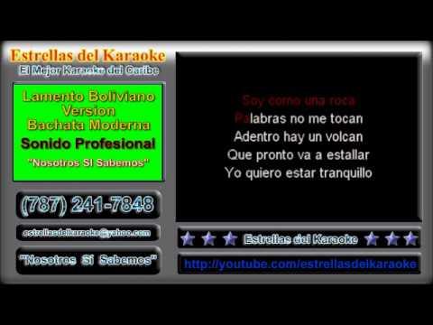 Pista o Karaoke - Lamento Boliviano Version bachata moderna