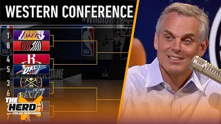 Colin Cowherd fills out his NBA Playoff bracket | NBA | THE HERD
