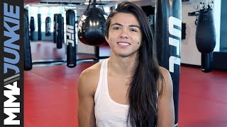 Claudia Gadelha UFC 225 media day in Las Vegas