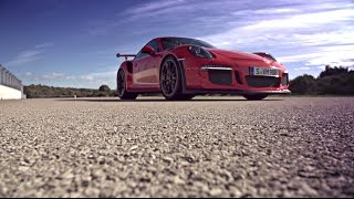 The new Porsche 911 GT3 RS on the Nardo test track