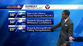 First Alert: Rain changing over to snow Sunday