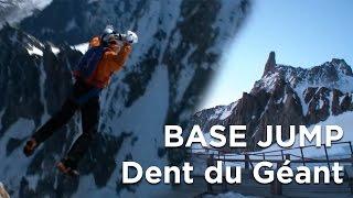 Base jump à la dent de géant