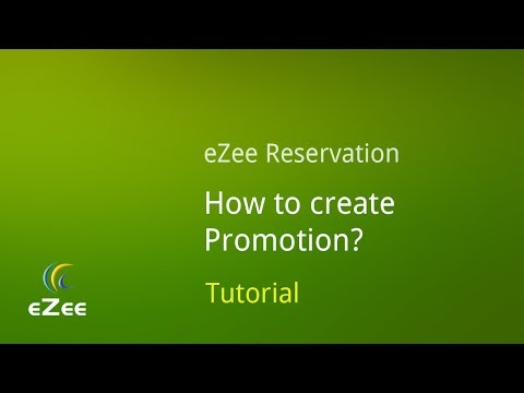 How to Create Promotion in eZee Reservation, Online Hotel Booking Engine