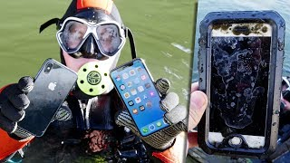 Scuba Diving With iPhone X! Found Lost iPhone! -