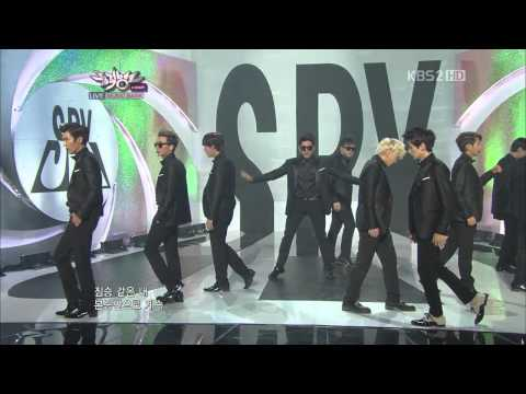 August 17, 2012 Super Junior performance of SPY @ KBS' Music Bank