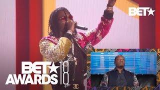 Majah Hype Gives Hilarious Reaction To Migos' Walk It Talk It Performance | BET Awards 2018