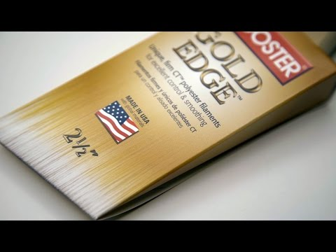 Following the success of our Silver Tip(R) brush line, we have developed a new option with firmer filaments. Gold Edge(TM) paintbrushes are made with an exclusive formula of chemically tipped (CT(TM)) polyester. This filament is very soft and fine to virtually eliminate brushmarks, yet it has added stiffness to push paint farther on the surface and provide control for sharp, single-pass cuts. Excellent for all paints and enamels, Gold Edge brushes offer semi-professional results at a great price.