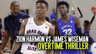 #1 FRESHMAN Zion Harmon Takes On James Wiseman in Front Of NBA Star Bradley Beal IN OT THRILLER!!