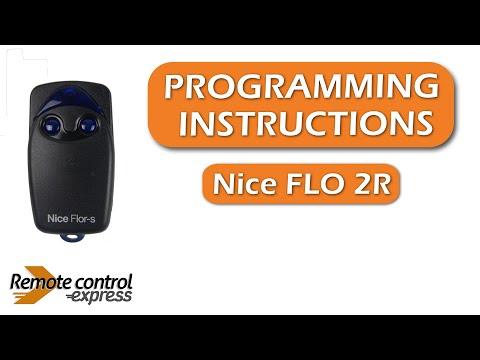 Programming My Remote Nice Flo 2r Youtube