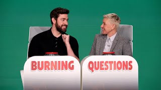 Extended Cut: John Krasinski Answers Ellen's 'Burning Questions'