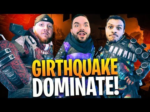 GIRTHQUAKE DOMINATE APEX LEGENDS!! UNDEFEATED (ish) W/ MARCEL & COURAGE!!