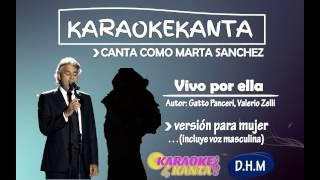 karaoke vivo por ella version para mujer