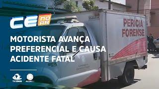 Motorista avança preferencial e causa acidente fatal