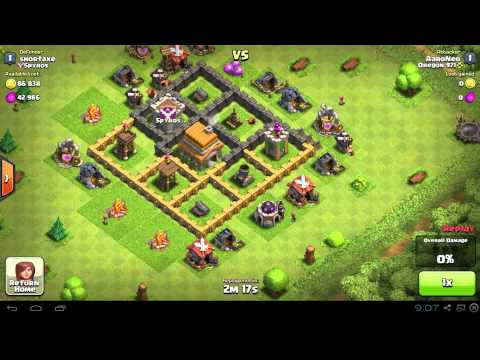 Best attack strategy for clash of clans town hall level 7 win every