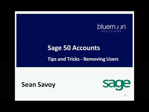Sage 50 Accounts - Removing Users