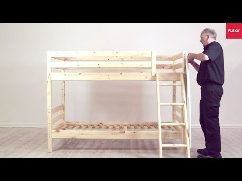 Flexa Classic Bunk Bed With Slanting Ladder Assembly