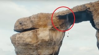 Malta's 'Azure Window' rock formation collapses into the sea