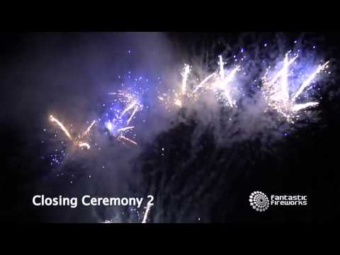 Fantastic Fireworks Closing Ceremony 2 - 100 Shot Fanned Barrage Firework