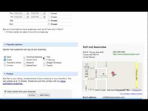 Get Your Business on Google Local Results