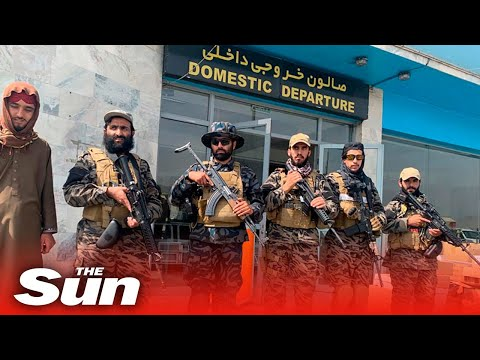 Taliban inspect 70 destroyed US aircrafts at Kabul airport