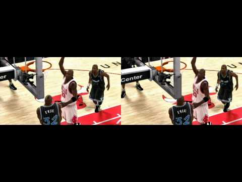 NBA 2K10 in 3D - Michael Jordan Dunks on Shaq