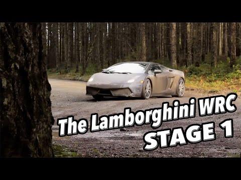 Тест на Ламборџини на опасна влажна и каллива планинска патека