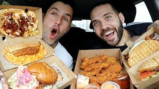 TRYING CHICKEN AND WAFFLES FOR THE FIRST TIME!! with JOSH PECK