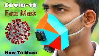 How To Make A Smart Cooling Face Mask || Covid-19 Face Mask || Safe india