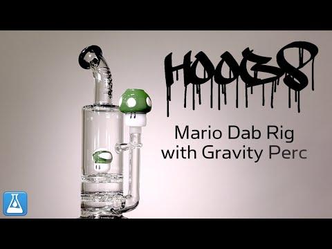Hoobs Glass Mario Dab Rig with Gravity Perc