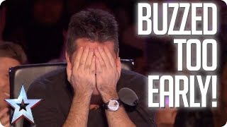 UH OH! When the Judges buzz TOO EARLY! | Britain's Got Talent