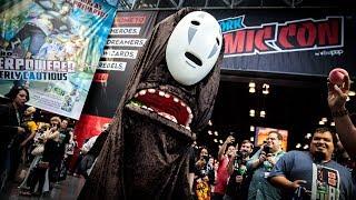Adam Savage Incognito as No-Face at New York Comic Con!
