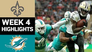 Saints vs. Dolphins | NFL Week 4 Game Highlights