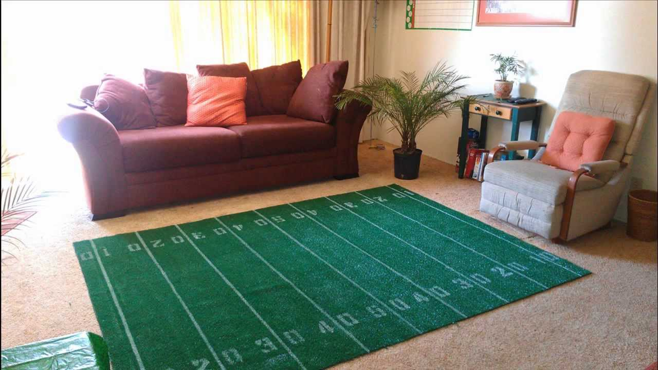 How To Make A Super Bowl Football Field Area Rug Diy