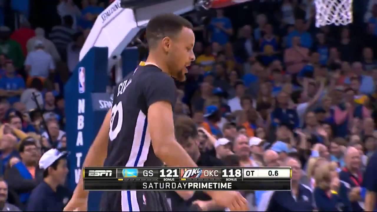 Stephen Curry's AMAZING Record Tying Game Winning 3 Point Shot @ OKC (02/27/16)ᴴᴰ