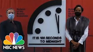 Scientists Keep Doomsday Clock At 100 Seconds To Midnight, Same As 2020 | NBC News NOW