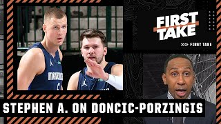 Stephen A.'s sources: Kristaps Porzingis is 'jealous of Luka Doncic and resentful'   First Take