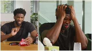 Joel Embiid does the One Chip Challenge !
