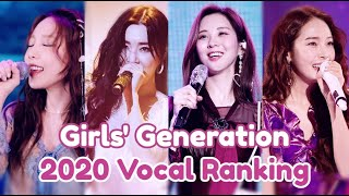2020 Girls' Generation Vocal Ranking (SNSD)