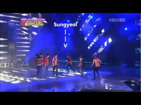 Infinite slipping on stage @ 120814 National Festival