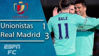 Unionistas 1-3 Real Madrid: Los Blancos struggle but advance into next round | Copa del Rey