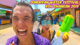A Day In The Life Of A Vegan Couple - SONGKRAN WATER FIGHT FESTIVAL 2019 Koh Phangan, Thailand