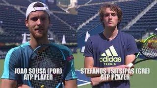 Tsitsipas vs. Sousa: Dubai Tennis Trick Shot Challenge