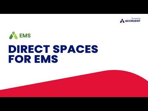 See how easy it is to use Accruent's Direct Spaces app to book a space using the EMS space management platform.