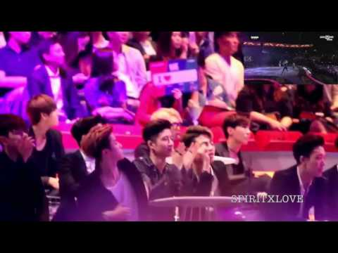 BTS & IKON Reaction to 2NE1 & CL [MAMA] 2015 Fancams Part 3
