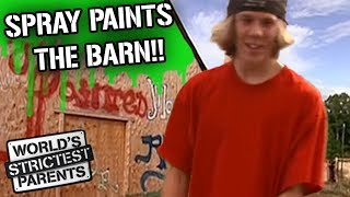 Teen Sprays Graffiti on the Barn! | World's Strictest Parents