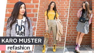 HOW TO WEAR BRITISH STYLE: 3 coole Outfits im Trendmuster Karo ~ refashion | OTTO